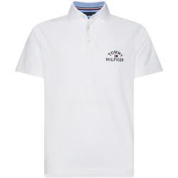 vaatteet Miehet Lyhythihainen poolopaita Tommy Hilfiger MW0MW13538 Valkoinen