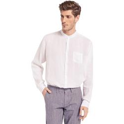 vaatteet Miehet Pitkähihainen paitapusero Gaudi 011BU45001 Valkoinen