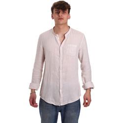 vaatteet Miehet Pitkähihainen paitapusero Gaudi 011BU45001 Beige