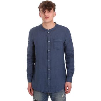 vaatteet Miehet Pitkähihainen paitapusero Gaudi 011BU45001 Sininen
