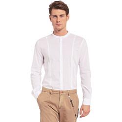 vaatteet Miehet Pitkähihainen paitapusero Gaudi 011BU45031 Valkoinen