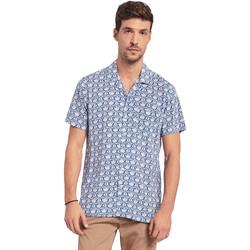 vaatteet Miehet Lyhythihainen paitapusero Gaudi 011BU45046 Sininen