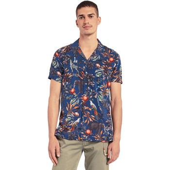 vaatteet Miehet Lyhythihainen paitapusero Gaudi 011BU45047 Sininen