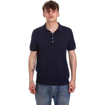vaatteet Miehet Lyhythihainen poolopaita Gaudi 011BU53011 Sininen