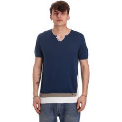 vaatteet Miehet Lyhythihainen t-paita Gaudi 011BU53021 Sininen