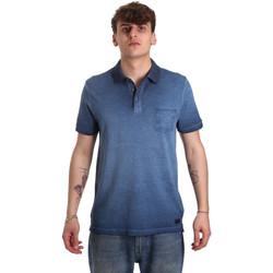 vaatteet Miehet Lyhythihainen poolopaita Gaudi 011BU64017 Sininen