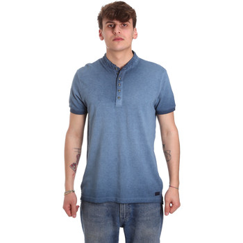 vaatteet Miehet Lyhythihainen poolopaita Gaudi 011BU64018 Sininen