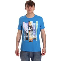 vaatteet Miehet Lyhythihainen t-paita Gaudi 011BU64028 Sininen