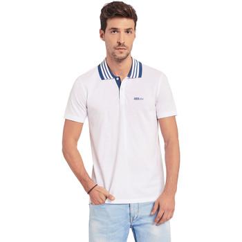 vaatteet Miehet Lyhythihainen poolopaita Gaudi 011BU64044 Valkoinen