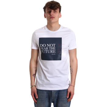 vaatteet Miehet Lyhythihainen t-paita Gaudi 011BU64067 Valkoinen