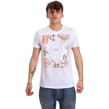 vaatteet Miehet Lyhythihainen t-paita Gaudi 011BU64070 Valkoinen