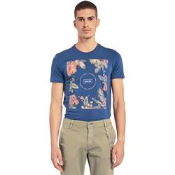vaatteet Miehet Lyhythihainen t-paita Gaudi 011BU64070 Sininen