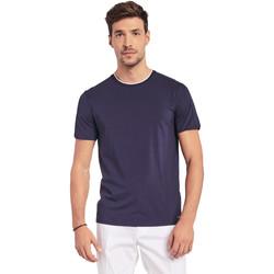 vaatteet Miehet Lyhythihainen t-paita Gaudi 011BU64087 Sininen
