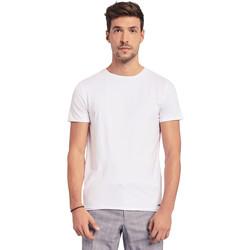 vaatteet Miehet Lyhythihainen t-paita Gaudi 011BU64093 Valkoinen