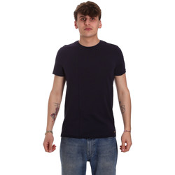 vaatteet Miehet Lyhythihainen t-paita Gaudi 011BU64093 Sininen