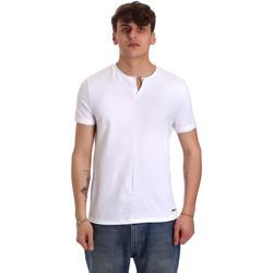 vaatteet Miehet Lyhythihainen t-paita Gaudi 011BU64094 Valkoinen