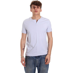 vaatteet Miehet Lyhythihainen t-paita Gaudi 011BU64094 Violetti