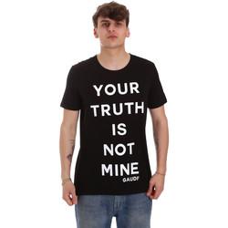 vaatteet Miehet Lyhythihainen t-paita Gaudi 011BU64107 Musta