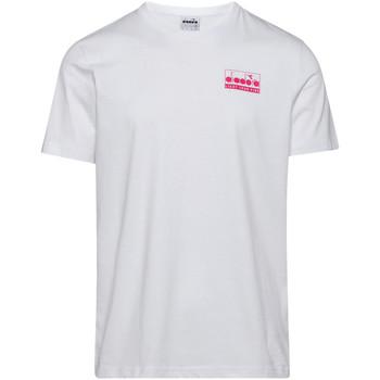 vaatteet Miehet Lyhythihainen t-paita Diadora 502175837 Valkoinen