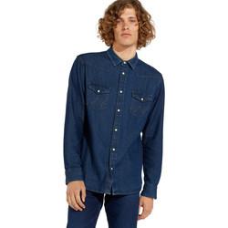 vaatteet Miehet Pitkähihainen paitapusero Wrangler W5MSLW301 Sininen