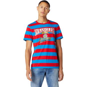 vaatteet Miehet Lyhythihainen t-paita Wrangler W7E1FKXKL Sininen