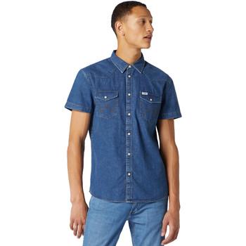 vaatteet Miehet Lyhythihainen paitapusero Wrangler W5J05D50B Sininen