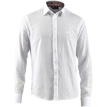 vaatteet Miehet Pitkähihainen paitapusero Lumberjack CM80846 001 603 Valkoinen