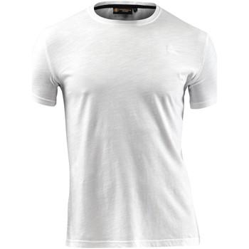 vaatteet Miehet Lyhythihainen t-paita Lumberjack CM60343 004 517 Valkoinen