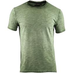 vaatteet Miehet Lyhythihainen t-paita Lumberjack CM60343 004 517 Vihreä