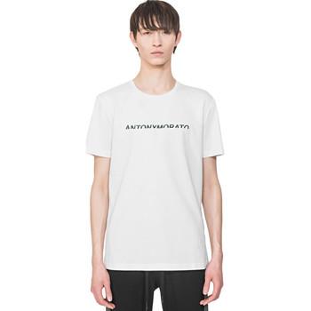 vaatteet Miehet Lyhythihainen t-paita Antony Morato MMKS01754 FA100144 Valkoinen