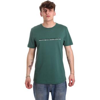 vaatteet Miehet Lyhythihainen t-paita Antony Morato MMKS01754 FA100144 Vihreä