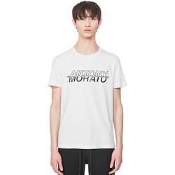 vaatteet Miehet Lyhythihainen t-paita Antony Morato MMKS01816 FA100144 Valkoinen