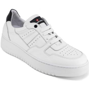 kengät Miehet Matalavartiset tennarit Exton 427 Valkoinen