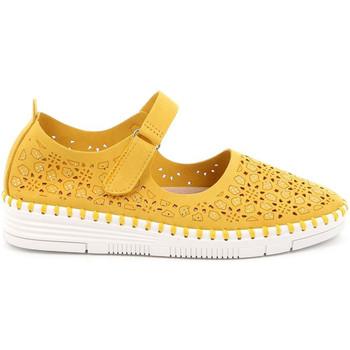 kengät Naiset Balleriinat Grunland SC4911 Keltainen