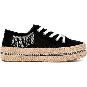 kengät Naiset Matalavartiset tennarit Café Noir DG934 Musta