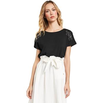 vaatteet Naiset Lyhythihainen t-paita Gaudi 011FD64022 Musta