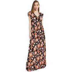 vaatteet Naiset Pitkä mekko Gaudi 011BD15020 Musta