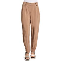 vaatteet Naiset Chino-housut / Porkkanahousut Gaudi 011BD25052 Ruskea
