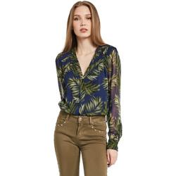 vaatteet Naiset Paitapusero / Kauluspaita Gaudi 011BD45018 Sininen