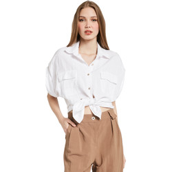 vaatteet Naiset Paitapusero / Kauluspaita Gaudi 011BD45030 Valkoinen