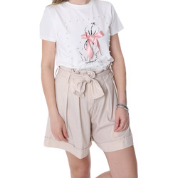vaatteet Naiset Shortsit / Bermuda-shortsit Fracomina FR20SP150 Beige
