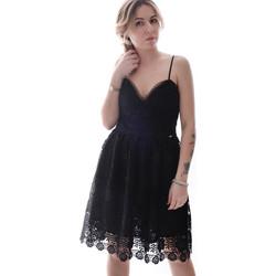 vaatteet Naiset Lyhyt mekko Fracomina FR20SP531 Musta