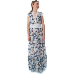vaatteet Naiset Pitkä mekko Fracomina FR20SP432 Sininen
