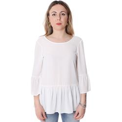 vaatteet Naiset Topit / Puserot Fracomina FR20SP040 Valkoinen