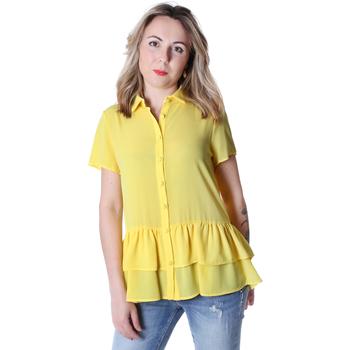 vaatteet Naiset Paitapusero / Kauluspaita Fracomina FR20SP039 Keltainen