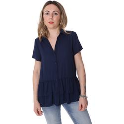 vaatteet Naiset Paitapusero / Kauluspaita Fracomina FR20SP039 Sininen