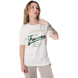 vaatteet Naiset Lyhythihainen t-paita Fracomina FR20SP305 Valkoinen