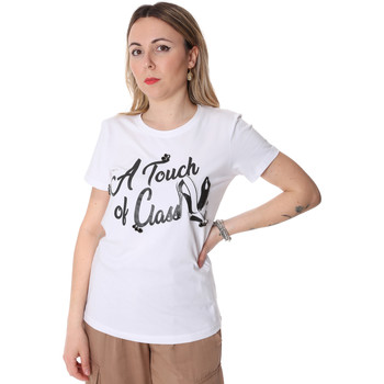 vaatteet Naiset Lyhythihainen t-paita Fracomina FR20SP306 Valkoinen