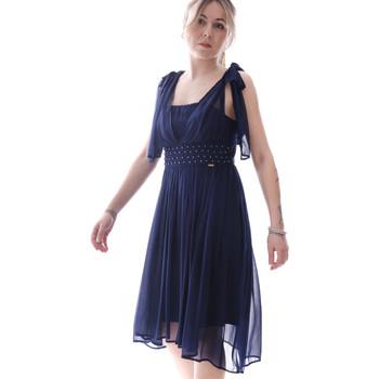 vaatteet Naiset Lyhyt mekko Fracomina FR20SP599 Sininen