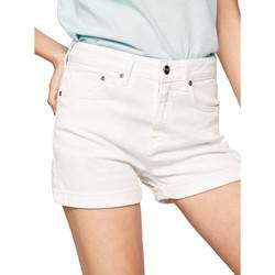 vaatteet Naiset Shortsit / Bermuda-shortsit Pepe jeans PL800848TA2 Valkoinen